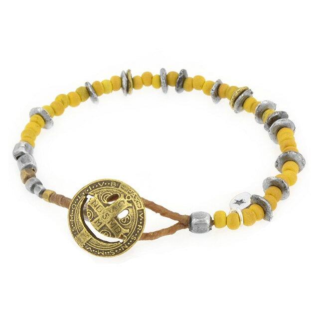 【海外訂購】【amp japan】微笑銅幣椰珠手環-黃 (AMP-14AHK-401-Yellow) 0
