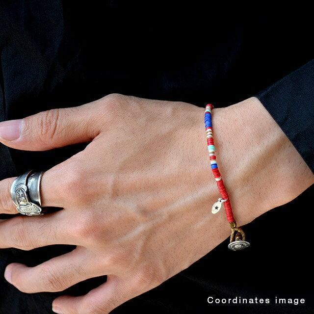 【海外訂購】【amp japan】非洲盤珠紅色蠟繩手環(AMP-14AHK-425RD  0756930000) 3