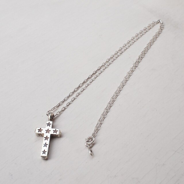 【amp japan】星星刻印十字架純銀項鍊 (AMP-14AO-135 ) 2