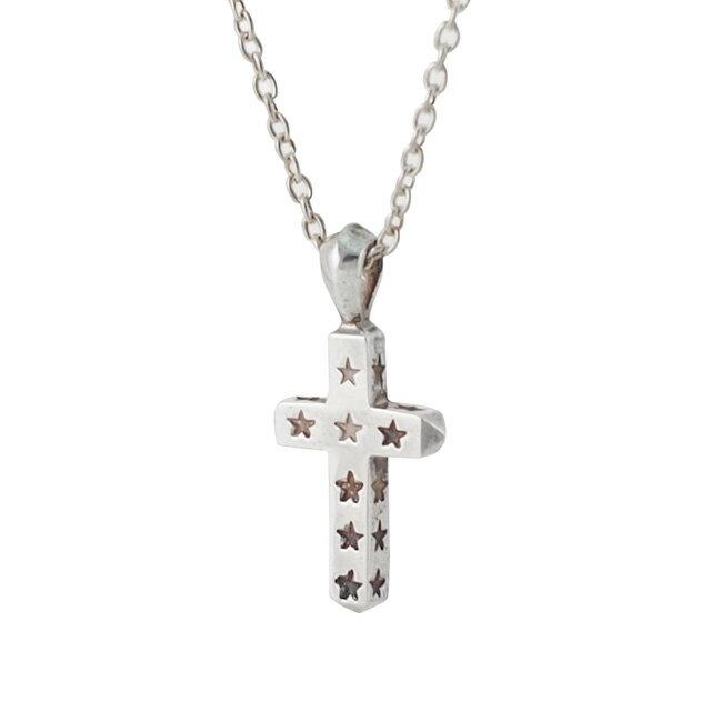 【現貨商品】【amp japan】Mini 星星刻印十字架純銀項鍊(AMP-14AO-136  0783230000) 0