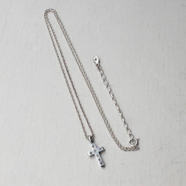 【現貨商品】【amp japan】Mini 星星刻印十字架純銀項鍊(AMP-14AO-136  0783230000) 1