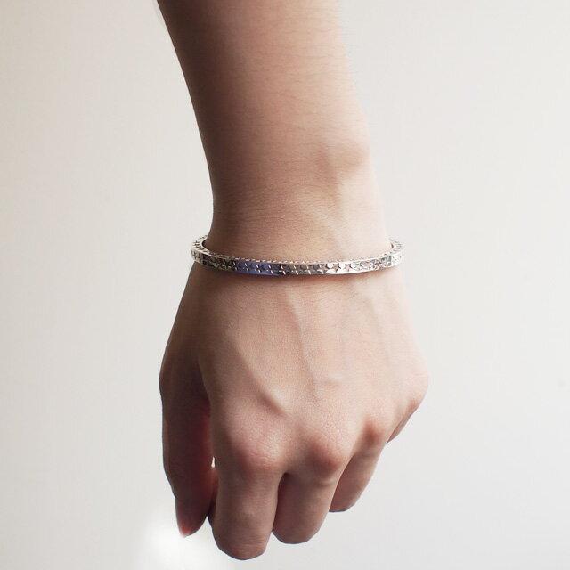 【海外訂購】【amp japan】星星刻印純銀手環(AMP-14AO-315  0783250000) 4