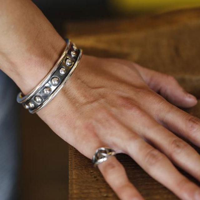 【現貨商品】【amp japan】925純銀混合圓圈手環(AMP-16AC-341 0919090000) 3