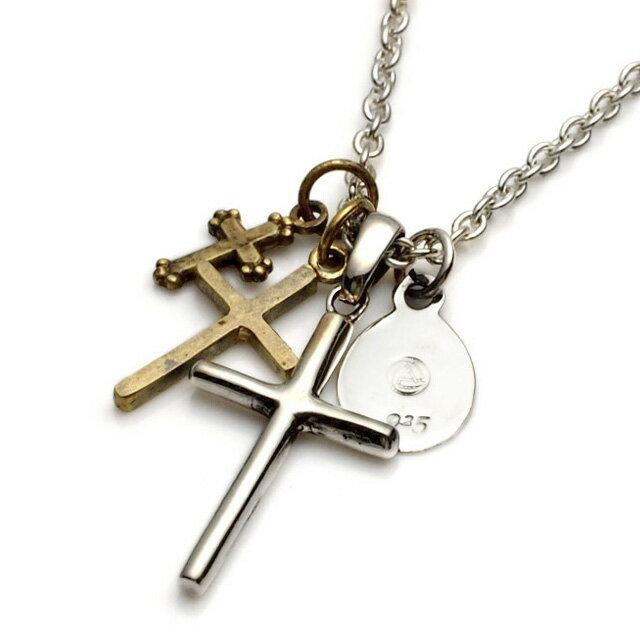【海外訂購】【amp japan】日系三連十字架項鍊(AMP-1AO-106 0531820000) 0