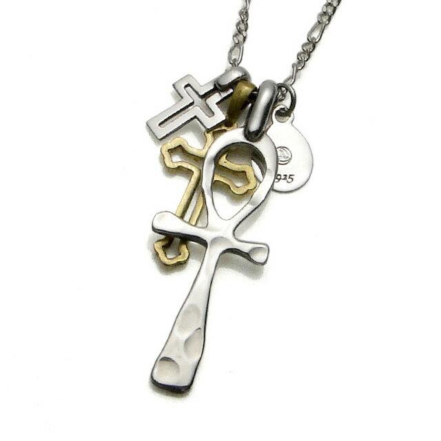 【現貨商品】【amp japan】三連鏤空設計十字架純銀項鍊(AMP-1AO-108S  0531830000) 0