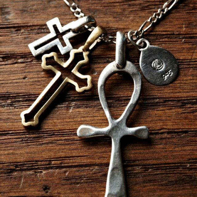 【現貨商品】【amp japan】三連鏤空設計十字架純銀項鍊(AMP-1AO-108S  0531830000) 1