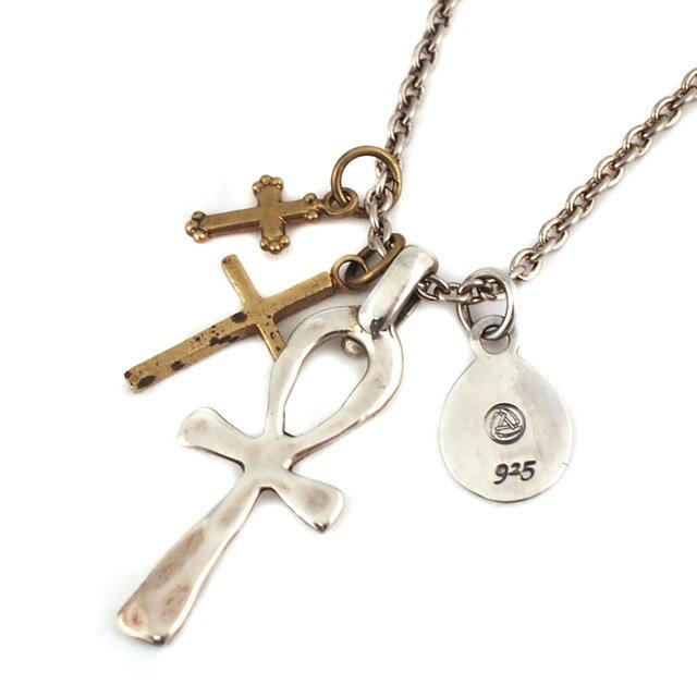 【海外訂購】【amp japan】日系三連十字架項鍊(AMP-1AO-135 0592370000) 0