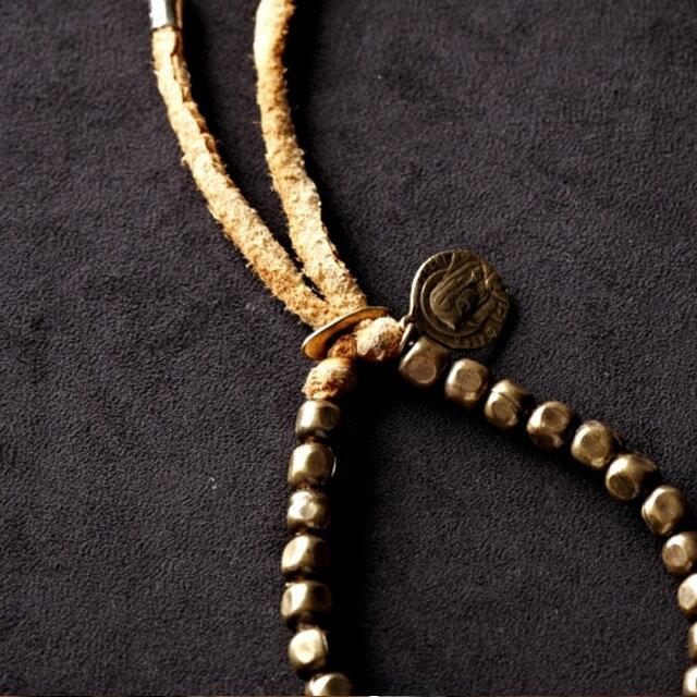 【海外訂購】【amp japan】銅珠原色皮革手環(AMP-4AK-163  0531900000) 2
