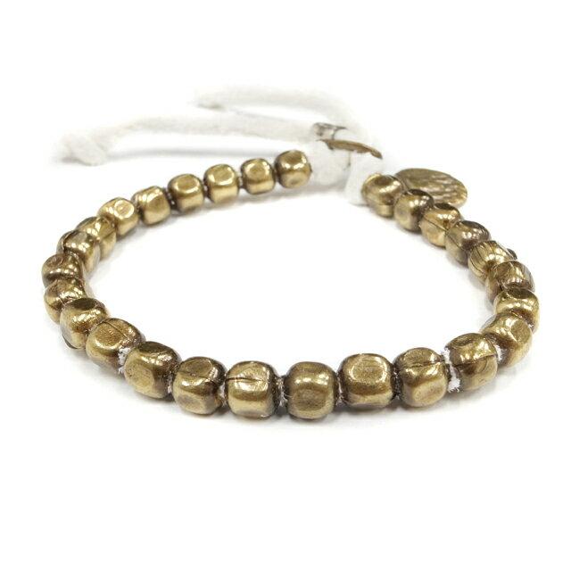【海外訂購】【amp japan】銅珠白色皮革手環(AMP-4AK-163W  0561040005) 0