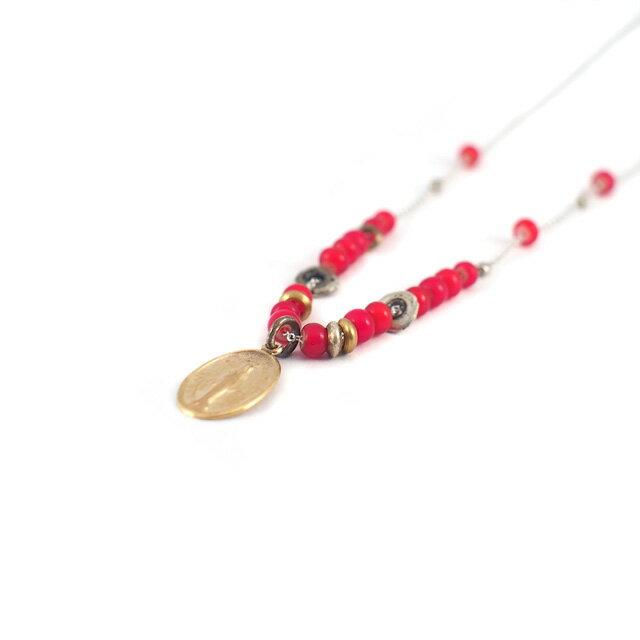 【海外訂購】【amp japan】血色瑪莉純銀串珠項鍊(AMPC-12BCH-115 0580730000) 1