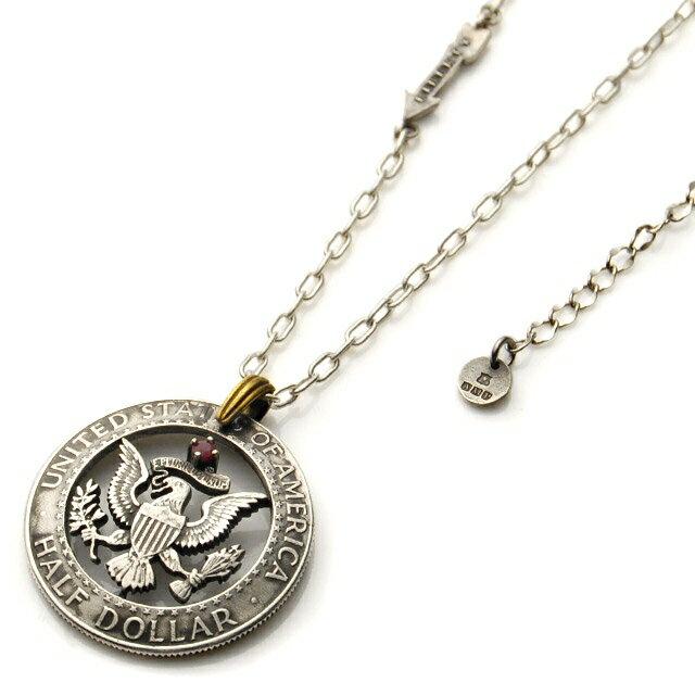 【海外訂購】【amp japan】紅寶石老鷹錢幣純銀項鍊(AMPC-13ACH-100  0641430000) 0