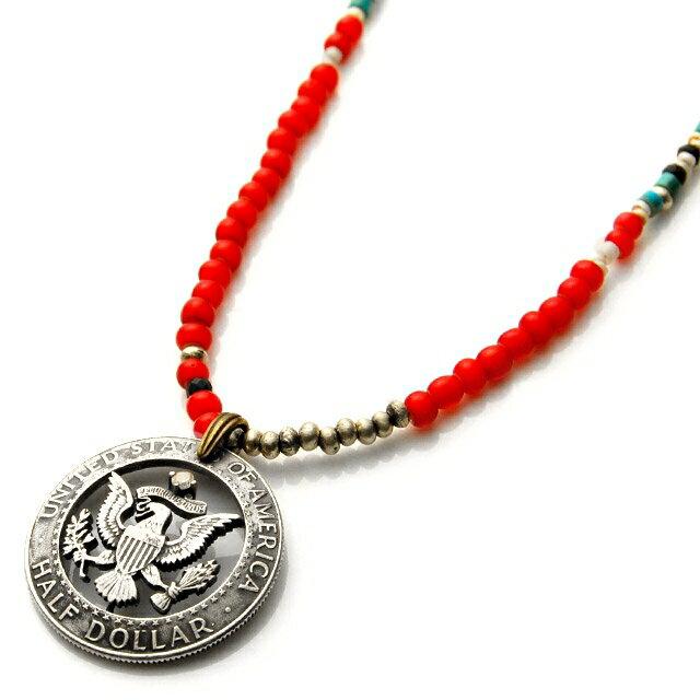 【海外訂購】【amp japan】老鷹錢幣紅色串珠項鍊(AMPC-13ACH-107  0641500000) 0