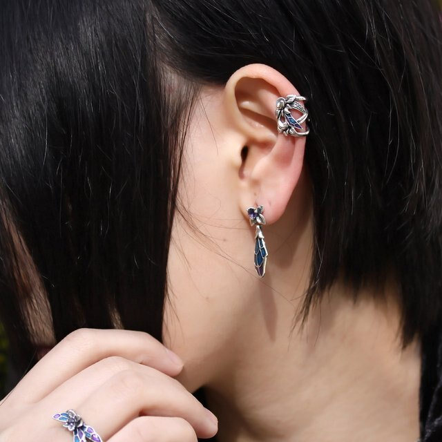 【海外訂購】【Bloody Mary】Phii妖精 -Murmur- 純銀耳扣(BME1342-1  0813480000) 1