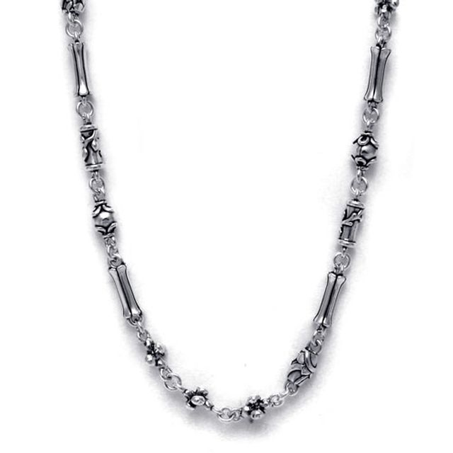 【現貨商品】【Bloody Mary】遊牧民族雕花純銀項鍊 60cm (BMN0573-60cm 026795B600) 0