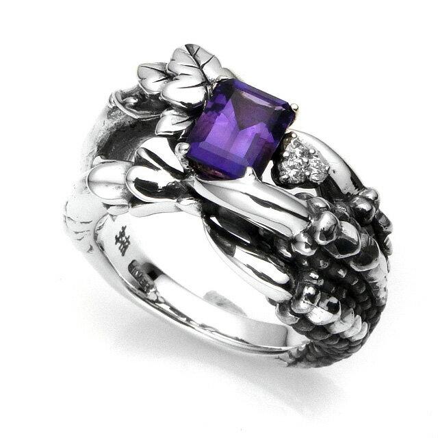 【現貨商品】【Bloody Mary】Bulb 紫水晶鑲鑽純銀戒指 (BMR0613-AWd) 0