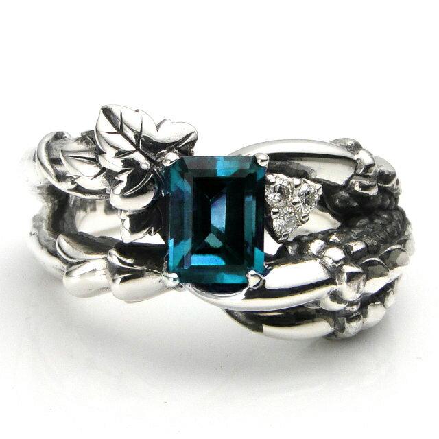 【海外訂購】【Bloody Mary】Bulb 倫敦藍托帕石鑲鑽純銀戒指 (BMR0613-LbtWd) 0
