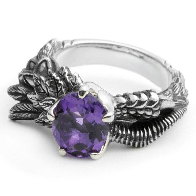 【海外訂購】【Bloody Mary】Noah 諾亞紫水晶純銀戒指 (BMR1019-A) 0