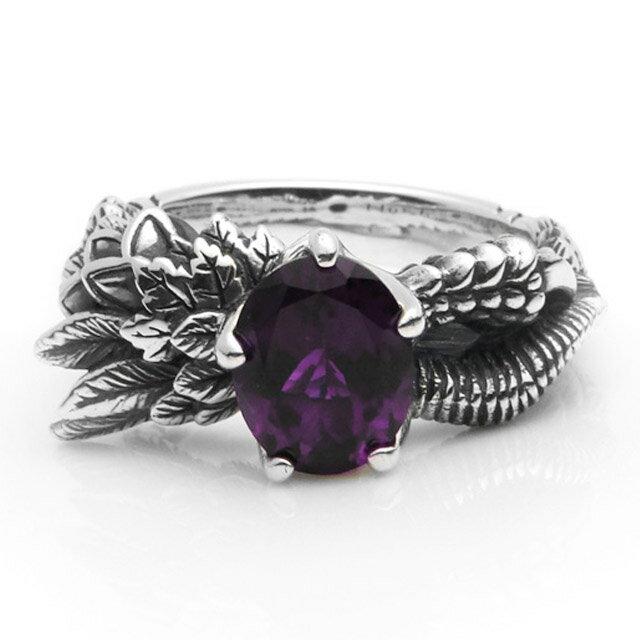 【海外訂購】【Bloody Mary】Noah 諾亞紫水晶純銀戒指 (BMR1019-A) 1