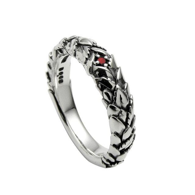 【現貨商品】【Bloody Mary】Embrace 紅鑽石雕花純銀戒指 (BMR1057-Rd) 0