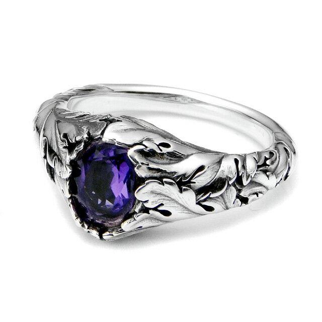 【海外訂購】【Bloody Mary】Purge 純淨寶石紫水晶純銀戒指(BMR1150-Aovb) 0