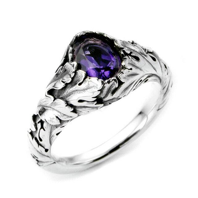 【海外訂購】【Bloody Mary】Purge 純淨寶石紫水晶純銀戒指(BMR1150-Aovb) 1