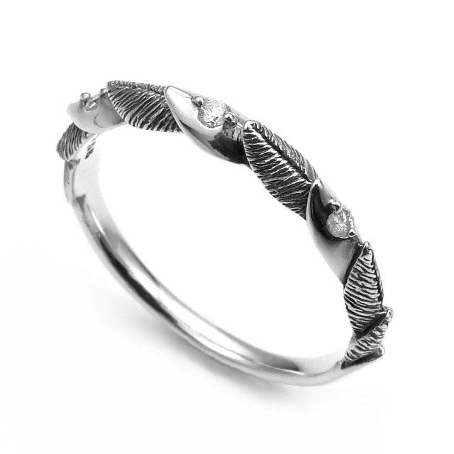 【海外訂購】【Bloody Mary】微風銀羽 鑽石純銀戒指(BMR1290-D) 0