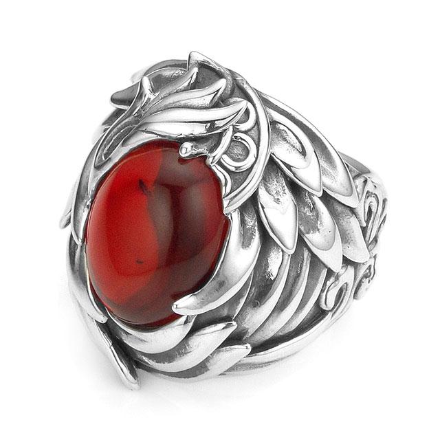 【現貨商品】【Bloody Mary】Crater 純銀戒指 - 火焰琥珀 (BMR1337-Ramb) 1