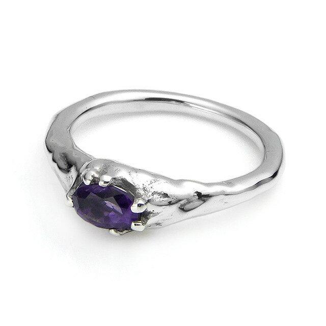 【現貨商品】【Bloody Mary】地之光 紫水晶純銀戒指(BMR1269B-A) 0