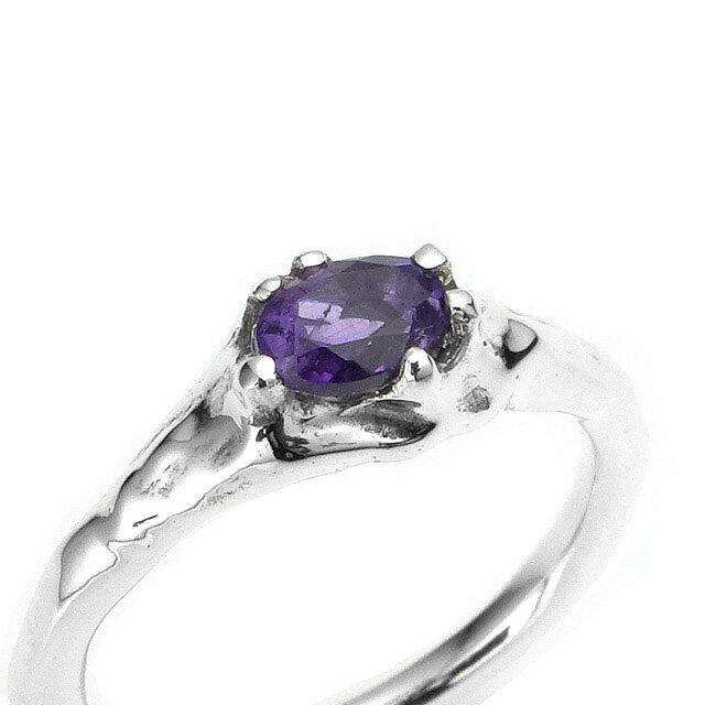 【現貨商品】【Bloody Mary】地之光 紫水晶純銀戒指(BMR1269B-A) 1