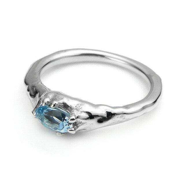 【海外訂購】【Bloody Mary】地之光 天空藍托帕石純銀戒指(BMR1269B-Skbt) 0