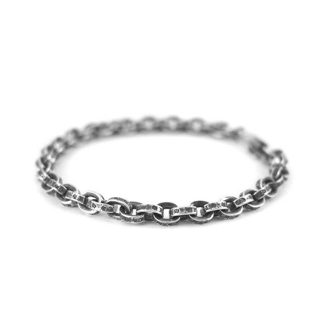 【海外訂購】【Chrome Hearts】Paper chain 鎖鍊型純銀手鍊 18cm (CHB-059-7 0223610000) 0