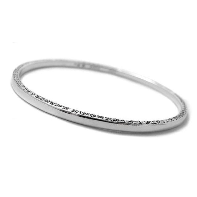 【海外訂購】【Chrome Hearts】NTFL 素面刻字純銀手環(CHBB-009  0112000000) 1