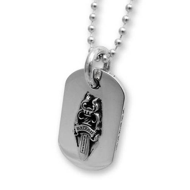 【海外訂購】【Chrome Hearts】匕首純銀軍牌項鍊(CHDT-012 0001590000) 0