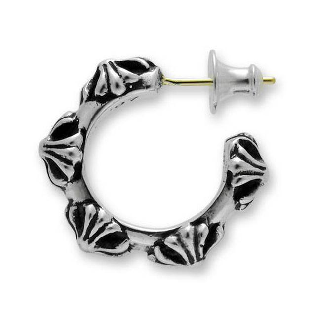 【海外訂購】【Chrome Hearts】十字雕花純銀耳環(CHE-004  0001680000) 1