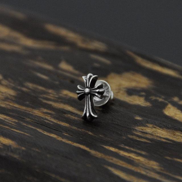 【海外訂購】【Chrome Hearts】十字架造型純銀耳環(CHE-037  0551150000) 3
