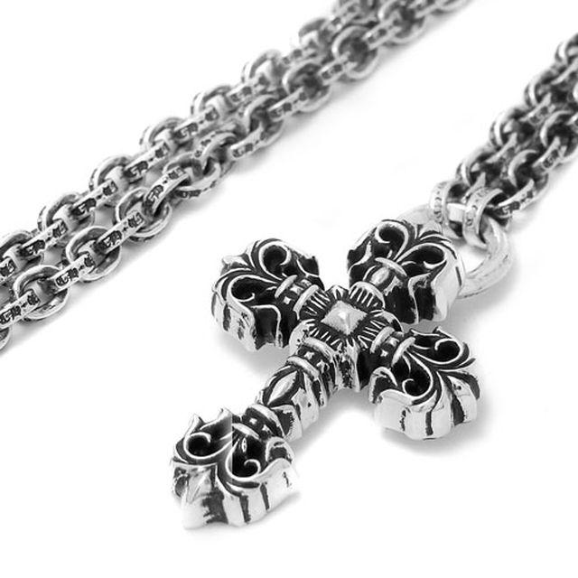 【海外訂購】【Chrome Hearts】歌德十字架 Paper chain 純銀項鍊 45cm(CHN-042-18  041778F100) 0