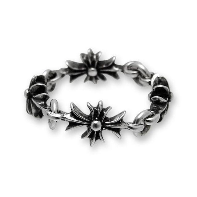 【海外訂購】【Chrome Hearts】CH plus 迷你十字架純銀戒指 S(CHR-023  0004660200) 0