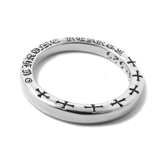 【海外訂購】【Chrome Hearts】NTFL 素面刻字純銀戒指(CHR-039) 0