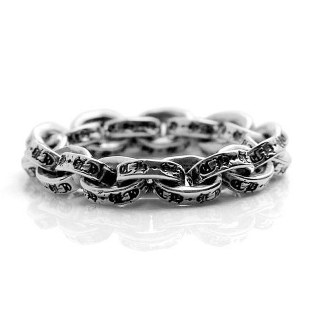 【海外訂購】【Chrome Hearts】Paper chain 鎖鍊型純銀戒指(CHR-048) 1