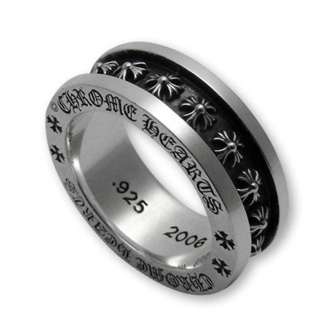 【海外訂購】【Chrome Hearts】Mini CH plus 經典迷你十字純銀戒指(CHR-051) 0