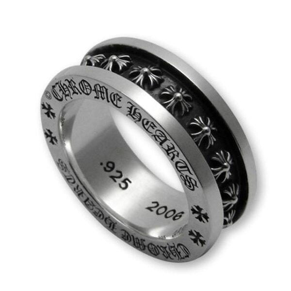 【海外訂購】【Chrome Hearts】Mini CH plus 經典迷你十字純銀戒指(CHR-051)