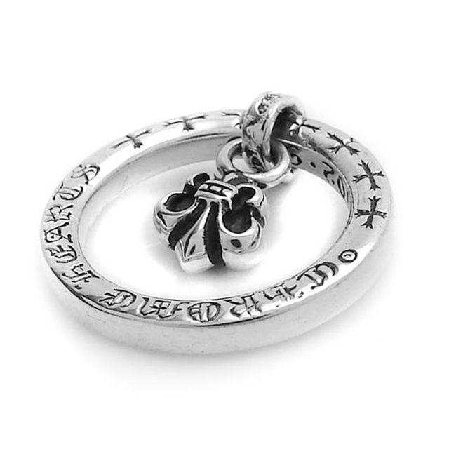 【海外訂購】【Chrome Hearts】BS fleur 鳶尾花墜飾純銀戒指(CHR-053) 1