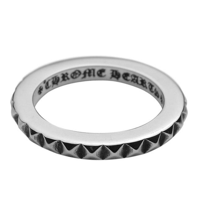 【海外訂購】【Chrome Hearts】Fucking 龐克鉚釘純銀戒指(CHR-060BG) 1
