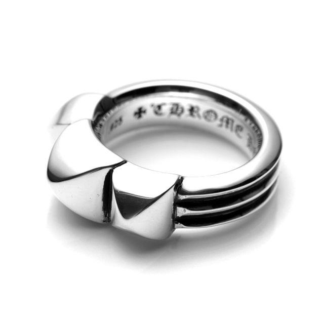 【海外訂購】【Chrome Hearts】龐克鉚釘純銀戒指(CHR-062) 0