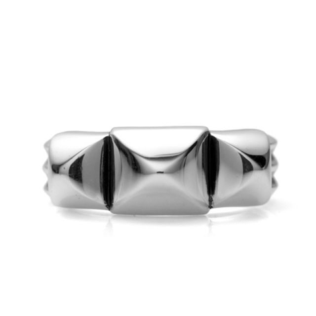 【海外訂購】【Chrome Hearts】龐克鉚釘純銀戒指(CHR-062) 1