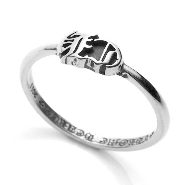 【海外訂購】【Chrome Hearts】CH logo極細純銀戒指(CHR-068CH) 0