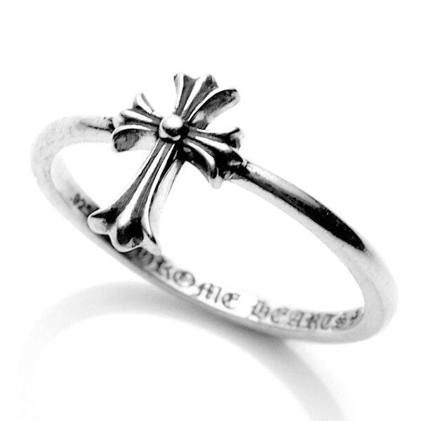 【海外訂購】【Chrome Hearts】CR cross 十字架極細純銀戒指(CHR-068CR)