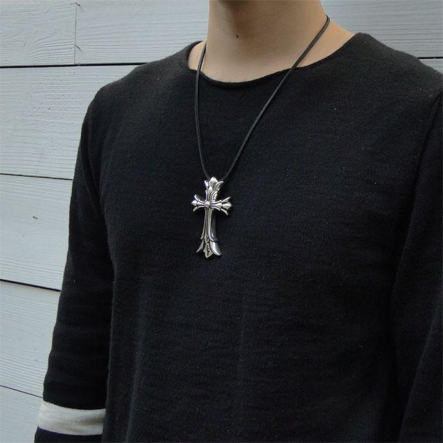 【現貨商品】【Chrome Hearts】 Double CH cross CH 雙十字架墜飾 L (CHP-060l  0618620000) 3