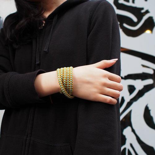 【現貨商品】【CHAN LUU】土耳其石金屬棕色皮繩手環/5圈(CL-BGZ-3305Tq-NaturalBrown  06252200L3) 1