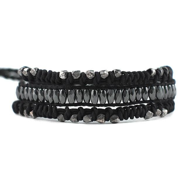 【現貨商品】【CHAN LUU】黑膽石三排單圈手環(CL-BSM-1142Hem-Black  0625970004) 0